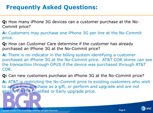 AT&T to offer the iPhone 3G without a contract