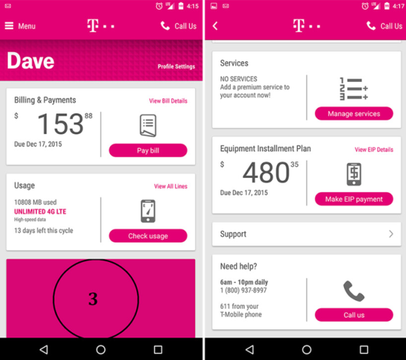 how to listen to t mobile voicemail from another phone