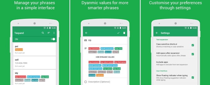 Spotlight: Textpand for Android lets you assign shortcuts to your favorite text phrases