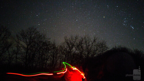 Even more stars. The trail of light is from a headlight - ISO800 and 30 seconds exposure time