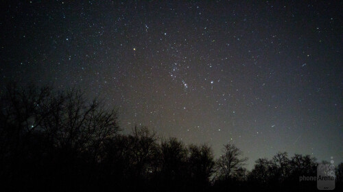 Orion can be seen here - shot at ISO800 and 30 seconds exposure time