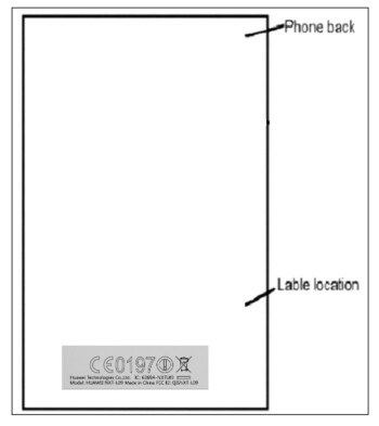 Placement of the FCC label on the Huawei Mate 8