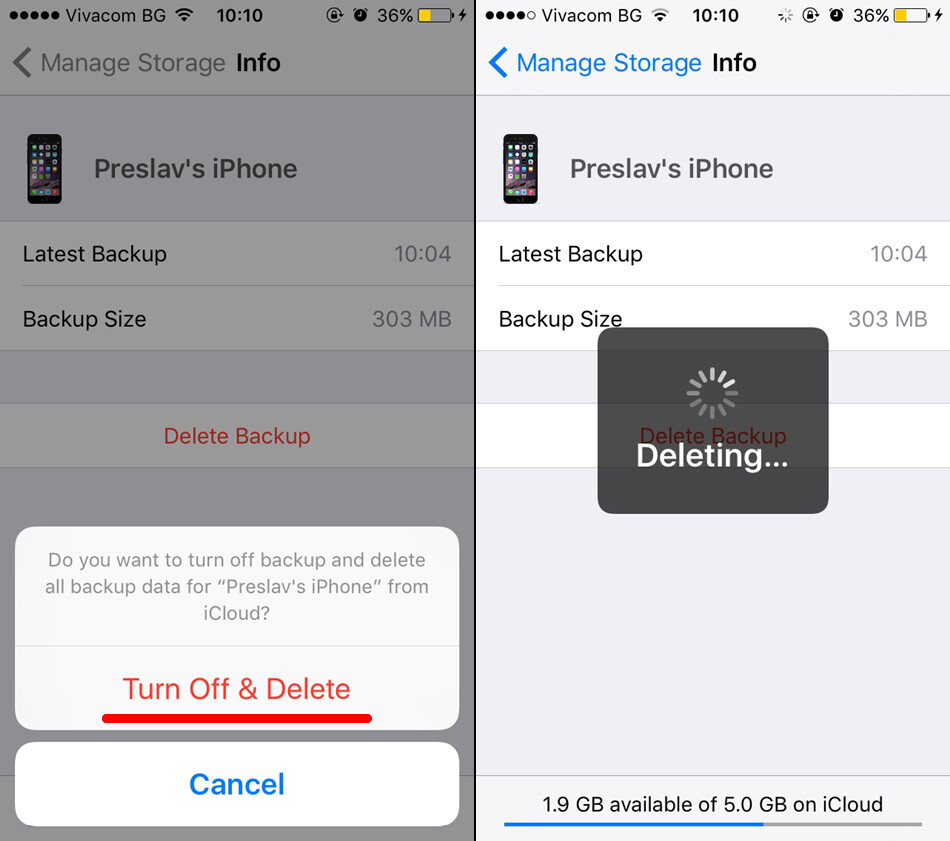 delete storage on iphone how to delete your existing iphone backups and free 2638