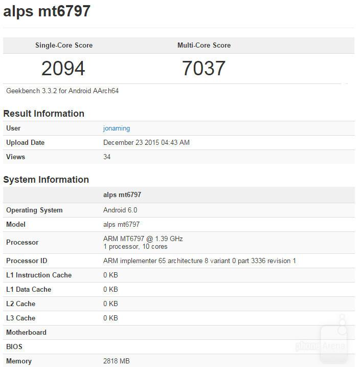 MediaTek's 10-core Helio X20 visits Geekbench, demolishes multi-core performance records