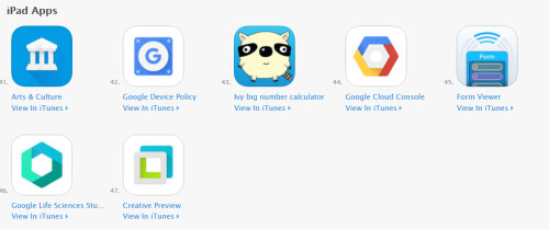 Google promotes its iOS and Android apps right from its home page