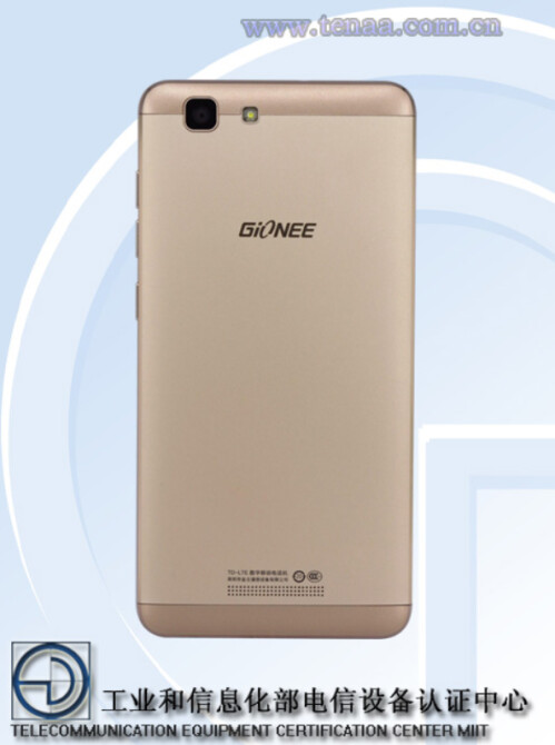 Gionee F105 is certified by TENA