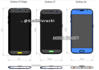 Samsung Galaxy S7 And Galaxy S7 Edge Dimensions Allegedly