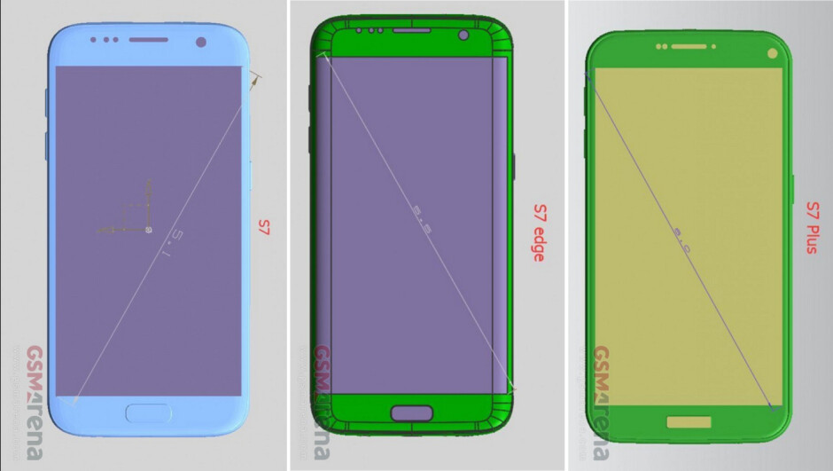 More leaked schematics for the Galaxy S7 show us a gargantuan Galaxy S7 Plus model