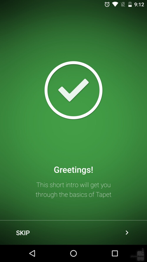 Once you install and open Tapet, it'll greet you with a short intro to learn the basics of it.