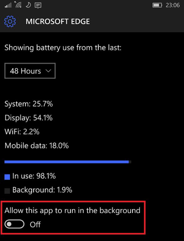 Getting control of the Edge browser on your Lumia 950 XL can improve the batter life of the phone - Extend the battery life on your Microsoft Lumia 950 XL by not feeding Edge