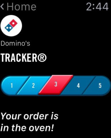 Order and track your Domino's Pizza using the app on your Apple or Pebble smartwatch