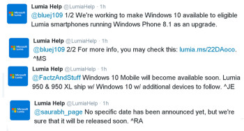 Microsoft says Windows 10 Mobile update is coming soon