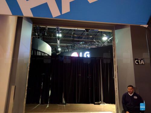 LG behind the curtain