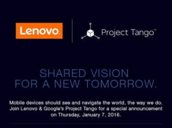 Lenovo and Google tease a Project Tango announcement coming this week at CES