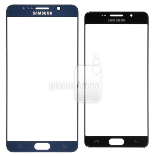 Samsung Galaxy Note 5 front panel (L) vs. Samsung Galaxy S7 (R)