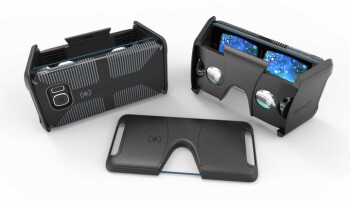 The Speck Pocket VR is a foldable Google Cardboard virtual reality headset