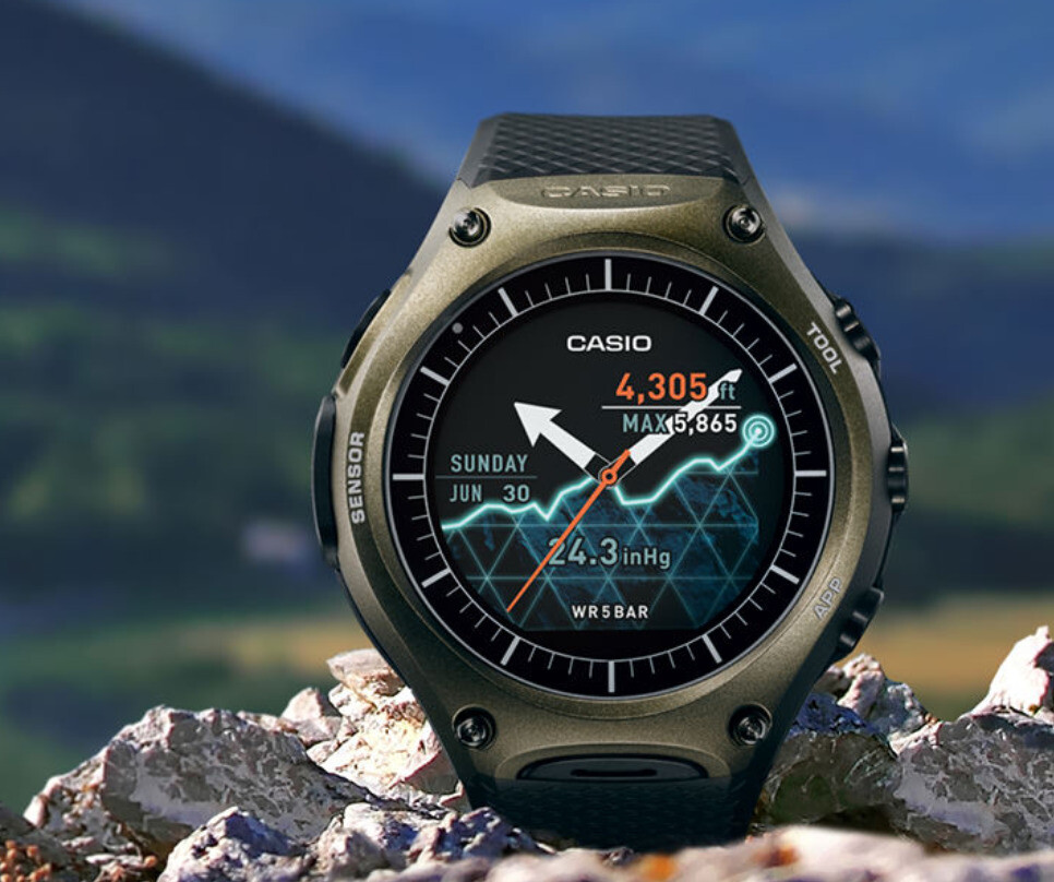 Casio unveils rugged android wear smartwatch with dual layer display for Outdoor watches