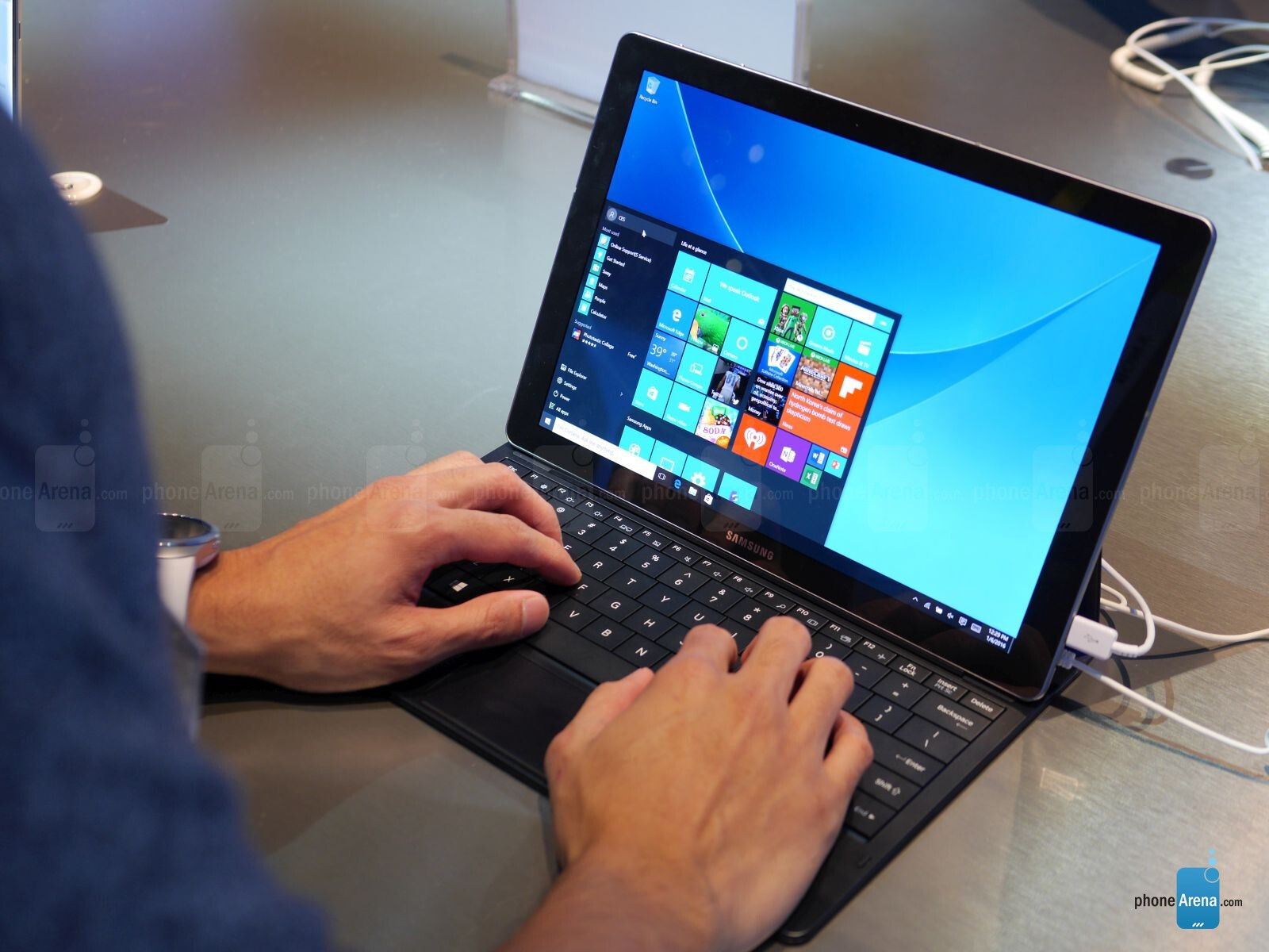 samsung galaxy tabpro s hands on a surface  petitor