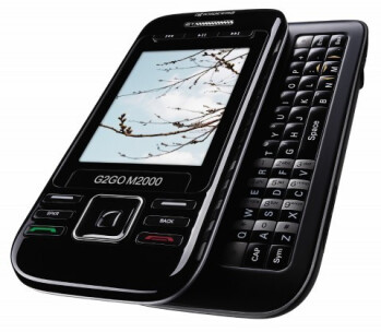 The number keys of the G2GO M2000 are turned at 90 degrees