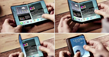 A concept for a foldable-screen Samsung phone