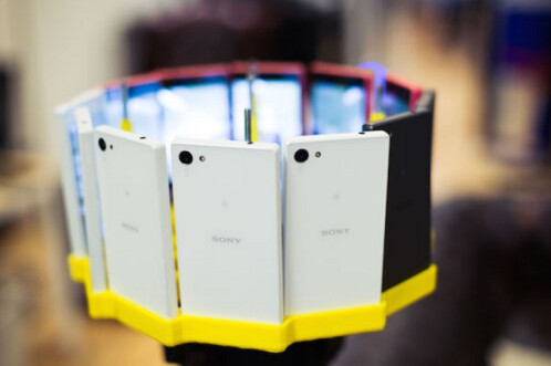Sony uses 12 Xperia Z5 Compact phones to shoot 360-degree 4K video