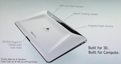 Prototype Project Tango tablet