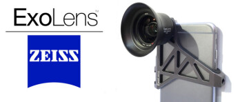 ExoLens shows premium iPhone camera lens attachments with Zeiss optics