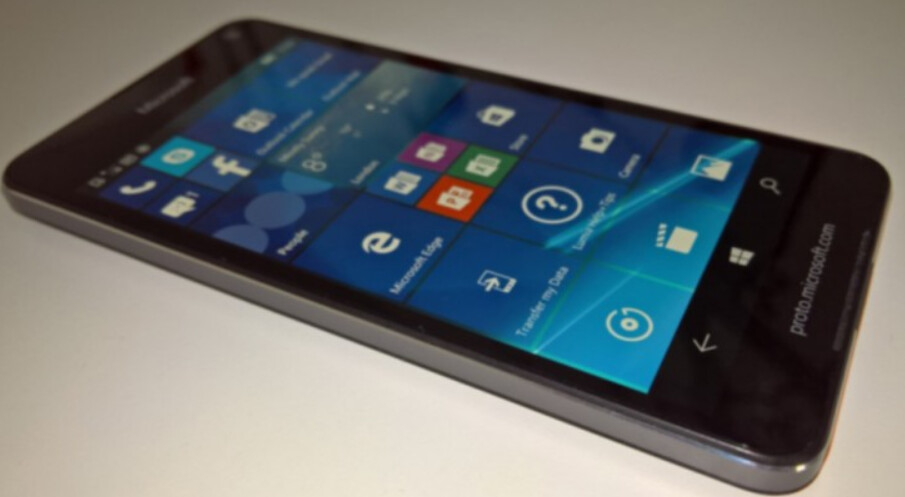 Photo allegedly shows a prototype of the Microsoft Lumia 650