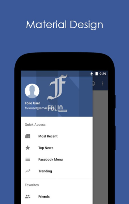 Folio for Facebook app