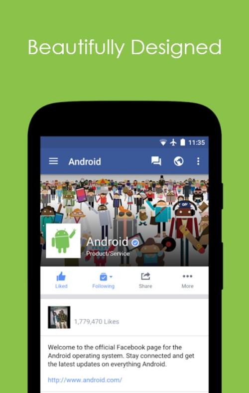 Folio for Facebook app