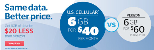 U.S. Cellular is offering 6GB of data for $40 a month