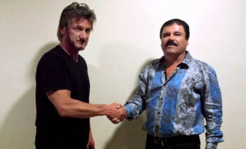BBM was one of the tools used to help actor Sean Penn (L) meet with fugative drug lord Joaquín