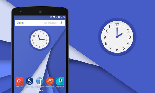 Multicolor Analog Clock Widget