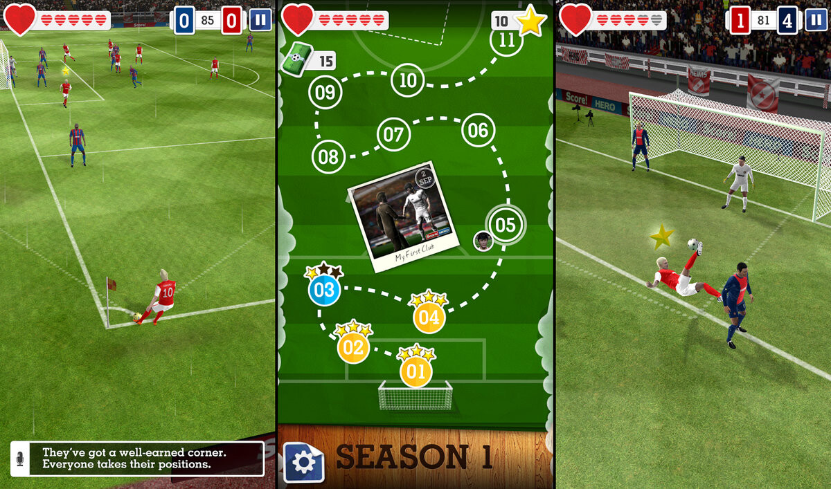Download best football or soccer games for android in 2014 - Score Hero