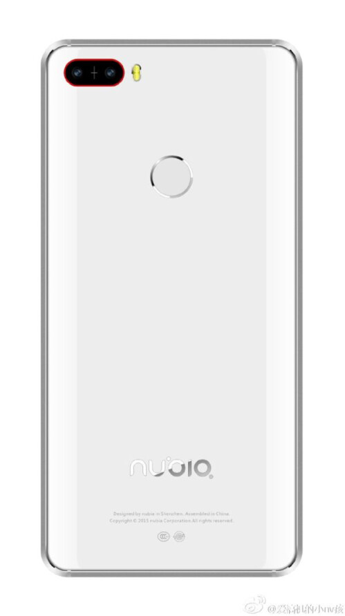 Leaked ZTE Nubia Z11 renders reveal a dual camera setup on the back