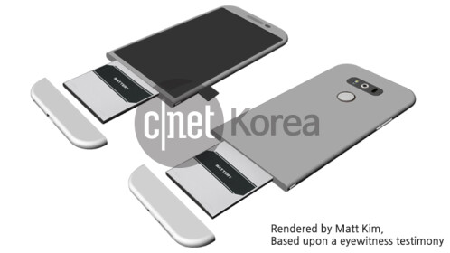Images and drawings of the alleged LG G5