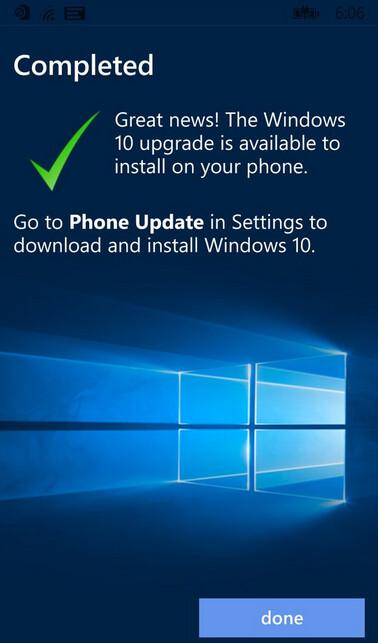Screenshot of Upgrade Advisor