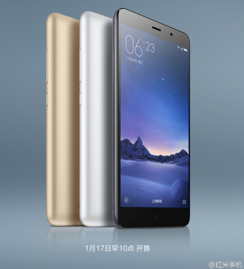 The Xiaomi Redmi Note 3 Pro is introduced