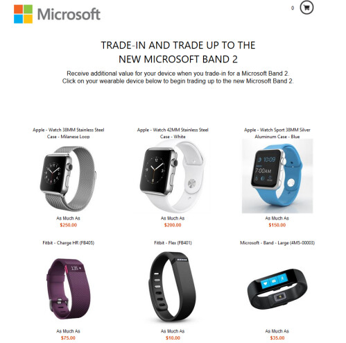 Trade in a working smartwatch or fitness trader...