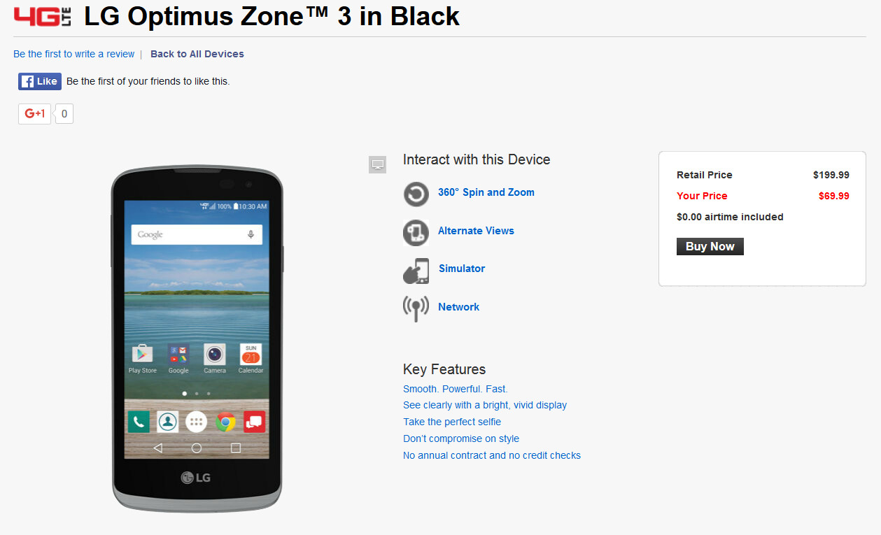Lg Optimus Zone 3 Hits Verizon S Prepaid Lineup