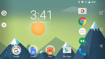 Google Now launcher beta with landscape mode support, image courtesy of Android Police