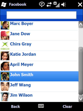 The new Facebook application for Windows Mobile