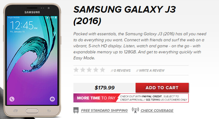 Buy the Samsung Galaxy J3 today from Virgin Mobile