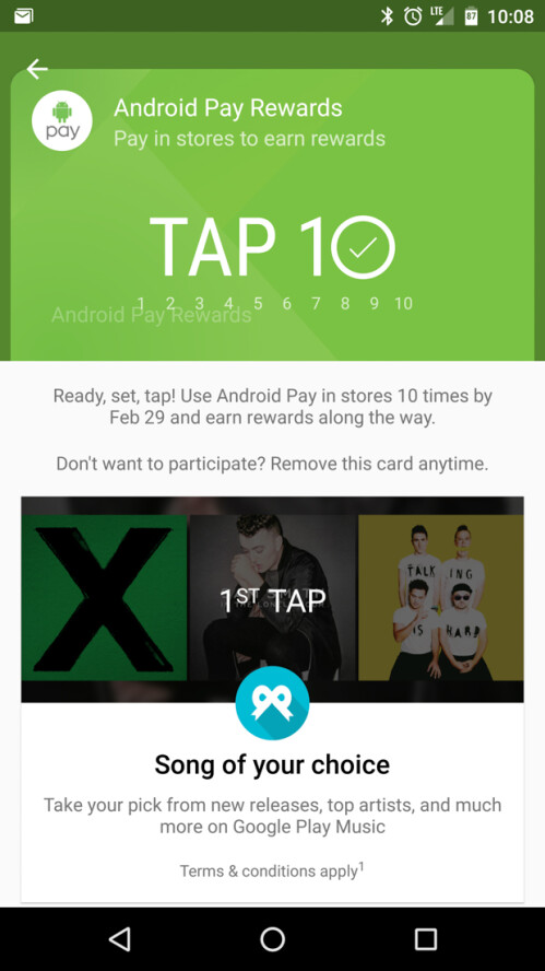 Use Android Pay and earn a free Chromecast through Google's Tap 10 Promotion