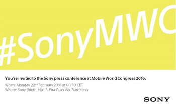 Sony's nondescript  MWC 2016 invite points to a February 22nd event
