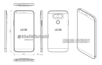 Alleged LG G5 diagram reveals a curved back, side buttons, and thin bezels