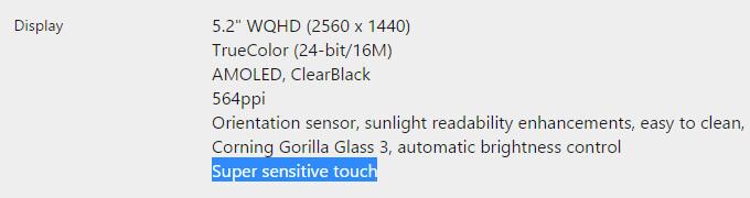 Lumia 950, Microsoft's Store page - The Microsoft Lumia 950's Super sensitive touch screen – neither super, nor that sensitive?