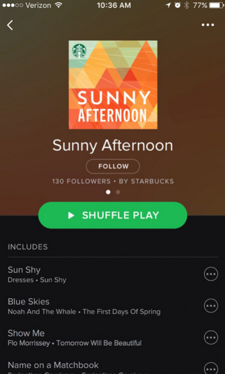 Starbucks adds Spotify music discovery feature to its iOS and Android app