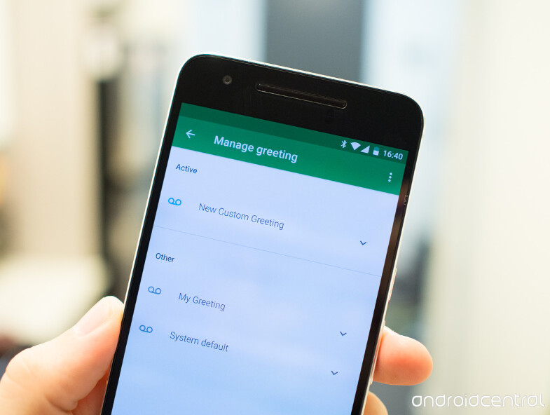 Update to Project Fi app allows subscribers to record custom voicemail greetings from the app, and choose which one to play at a given time - Record multiple voice mail greetings with Project Fi's updated app, and decide which one will play