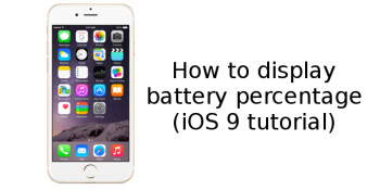 how to get battery percent on iphone 4s